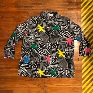 Vintage funky blouse - perfect for summer!